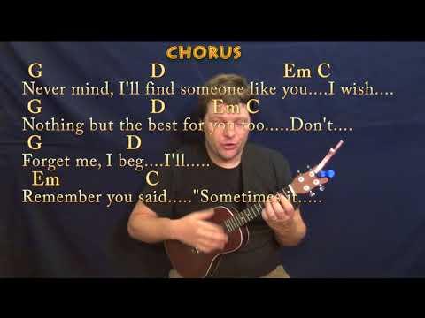 Someone Like You Adele Ukulele  Lesson in G with ChordsLyrics