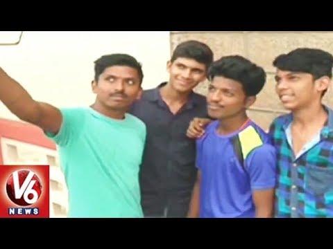 Officials Lift Gates Of Prakasham Barrage Due To Heavy Inflow | Vijayawada | V6 News