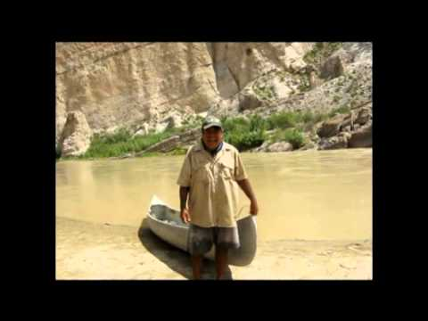 Victor singing on the Rio Grande, Boquillas Canyon, Big Bend National Park