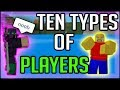 TEN TYPES OF PLAYERS IN STEVE'S ONE PIECE | Roblox |
