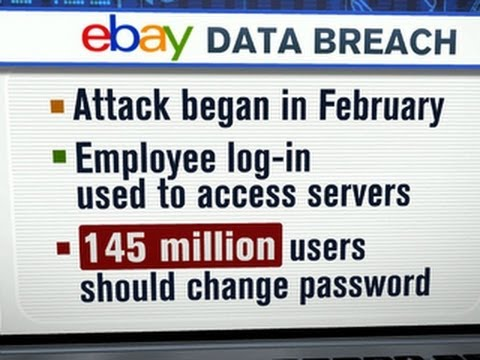 145 million eBay users urged to change passwords