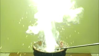 Chemistry experiment 39 - Reaction between zinc and sulfur