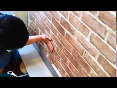 How To install Self-Adhesive PVC Wallpaper Sticker Brick Design