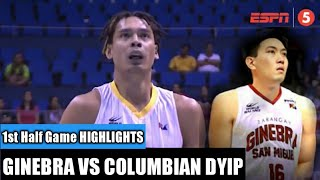 GINEBRA VS COLUMBIAN DYIP 1st Half game HIGHLIGHTS | Jeff Chan first game as Gins