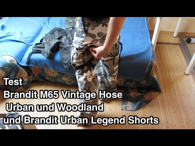 Test Brandit M65 Vintage Hose Urban und Woodland und Brandit Urban Legend Shorts nanokultur.de