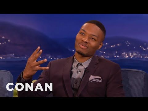 Damian Lillard's Freestyle Instagram Rapping  - CONAN on TBS