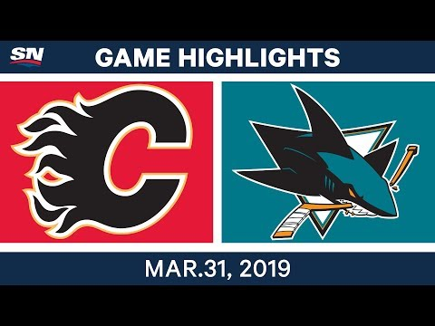 NHL Game Highlights | Sharks Vs. Flames – March 31, 2019