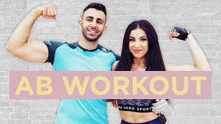 ULTIMATE 10 Minute FLAT STOMACH, ABS / CORE Workout | Leyla Rose + Josh Yianni