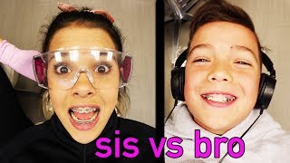 First to get BRACES OFF...SIS vs BRO Braces CHALLENGE!