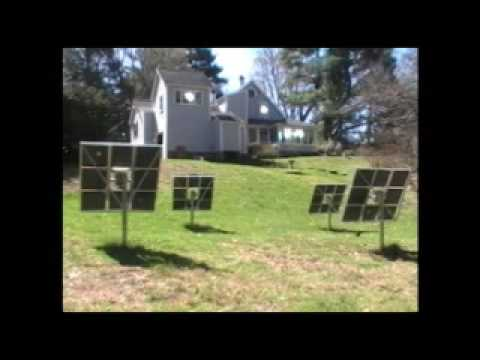 4 Practical Solar heliostats (time-lapse video)