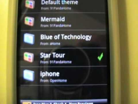 HTC Droid Eris - Widgets & Apps - Panda Home Explained