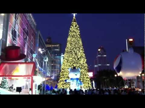 Christmas Celebrations 2011 at CentralWorld (Bangkok) .MOV