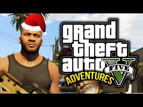 GTA 5: Funny Moments! #5 - Christmas. Zombies. Sharks! - (GTA V Adventures)