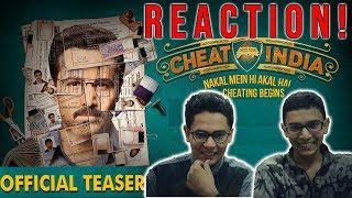 CHEAT INDIA Teaser REACTION | Emraan Hashmi, Vidya Balan - Review