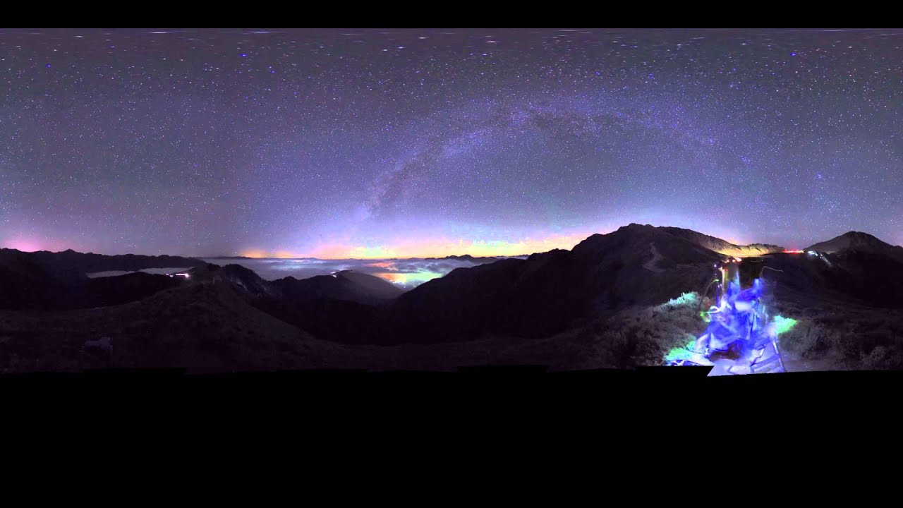 360 video - Interactive 360-degree panoramic view of the night sky