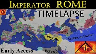 Imperator Rome TIMELAPSE (A.I. Only) 350 Years!