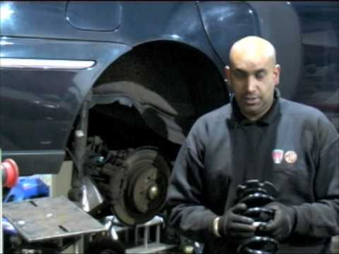 Renewing rear coil springs on a Rover 75