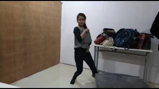 Cute girl dancing on Jimmy chu...