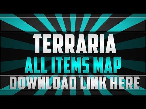 TERRARIA All Items Map 1.2 Update! Download Link In Description - Terraria: Xbox 360 Mod Glitch
