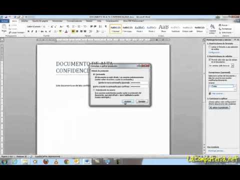 Proteger documentos de Office 2010 con contraseña