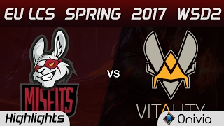 MSF vs VIT Highlights Game 2 EU LCS Spring 2017 W5D2 Misfits vs Vitality