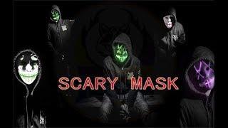Halloween Party Equipment   Scary LED Flashing Mask  EL Wire LED Mask