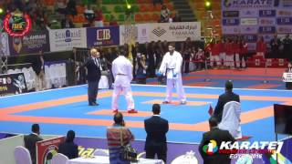 FRMK : KARATE1 Egypt 2016 Kumite Male  84Kg Final, Ouchen MAR vs Elasfar EGY