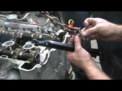 04 Chevy cavalier engine swap 2 (repairing damaged threads in the new block)