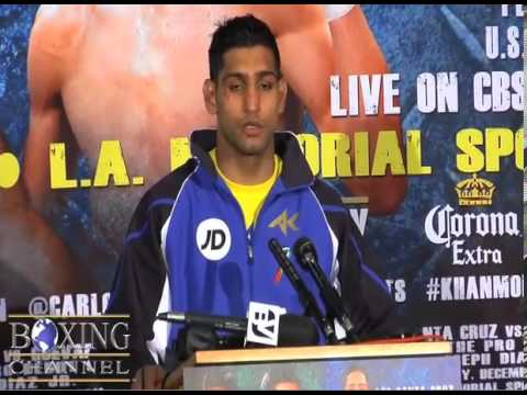 Amir Khan vs Carlos Molina Post Fight Press Conference