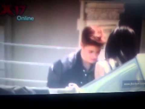 Justin Bieber Boyfriend Video Shoot With Selena Gomez Look Alike