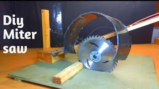 how to make miter saw at home | diy cutting machine |