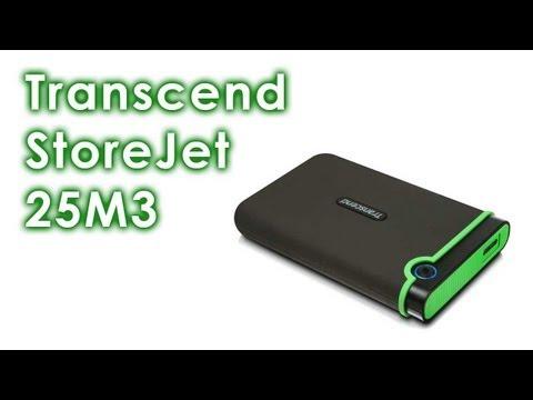 Обзор внешнего HDD Transcend StoreJet 25M3 - ударопрочный USB3.0, 1TB. Надежный бекап для всей семьи