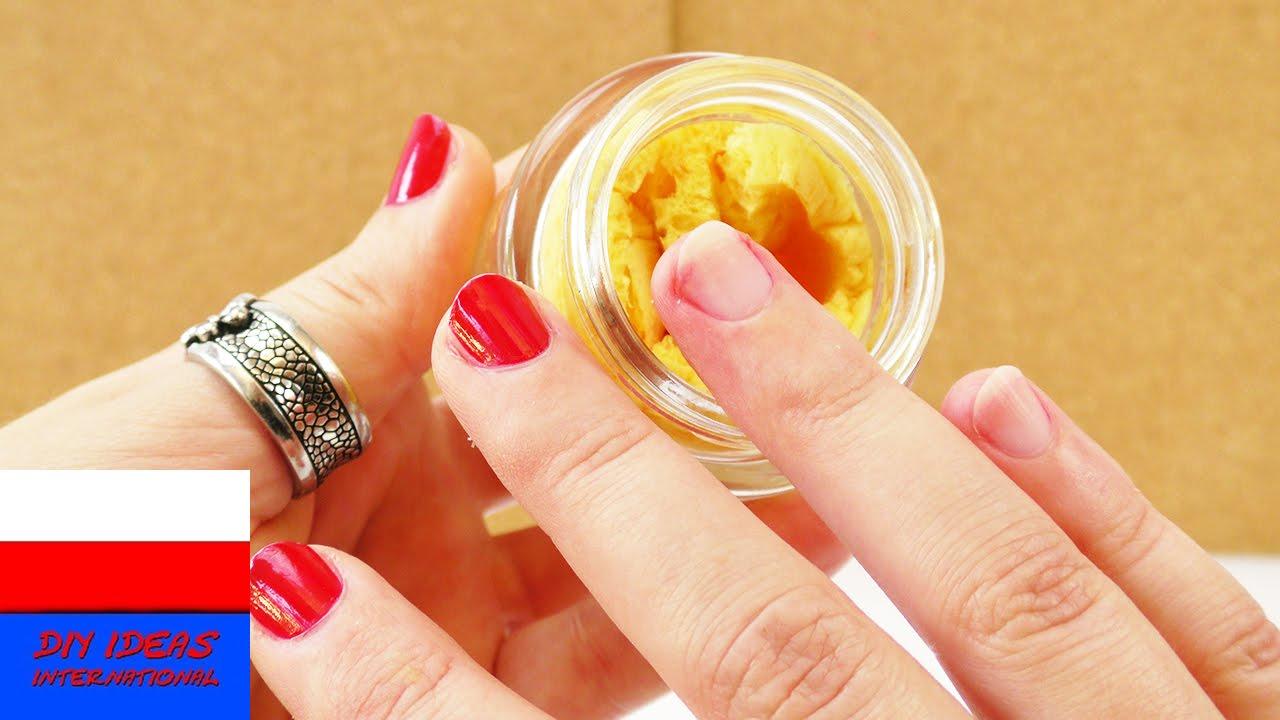 DIY Zmywacz do paznokci | zmywacz z gąbki i pudełka po kremie | praktyczny pomysł