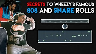 THE SECRET TO WHEEZY 808 AND SNARE ROLLS! ( How To Make A Wheezy x Young Thug Type Beat )
