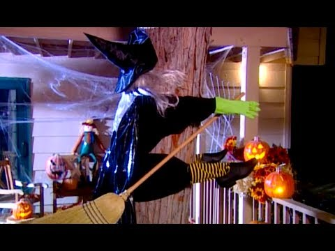 Crashed Witch Halloween Decorations Witch Crash Yard Decoration