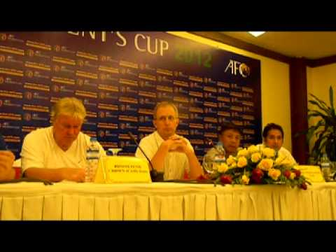 AFC Presidents' Cup 2012: Press Match Conference & Team Managers Meeting By GoalNepal.com