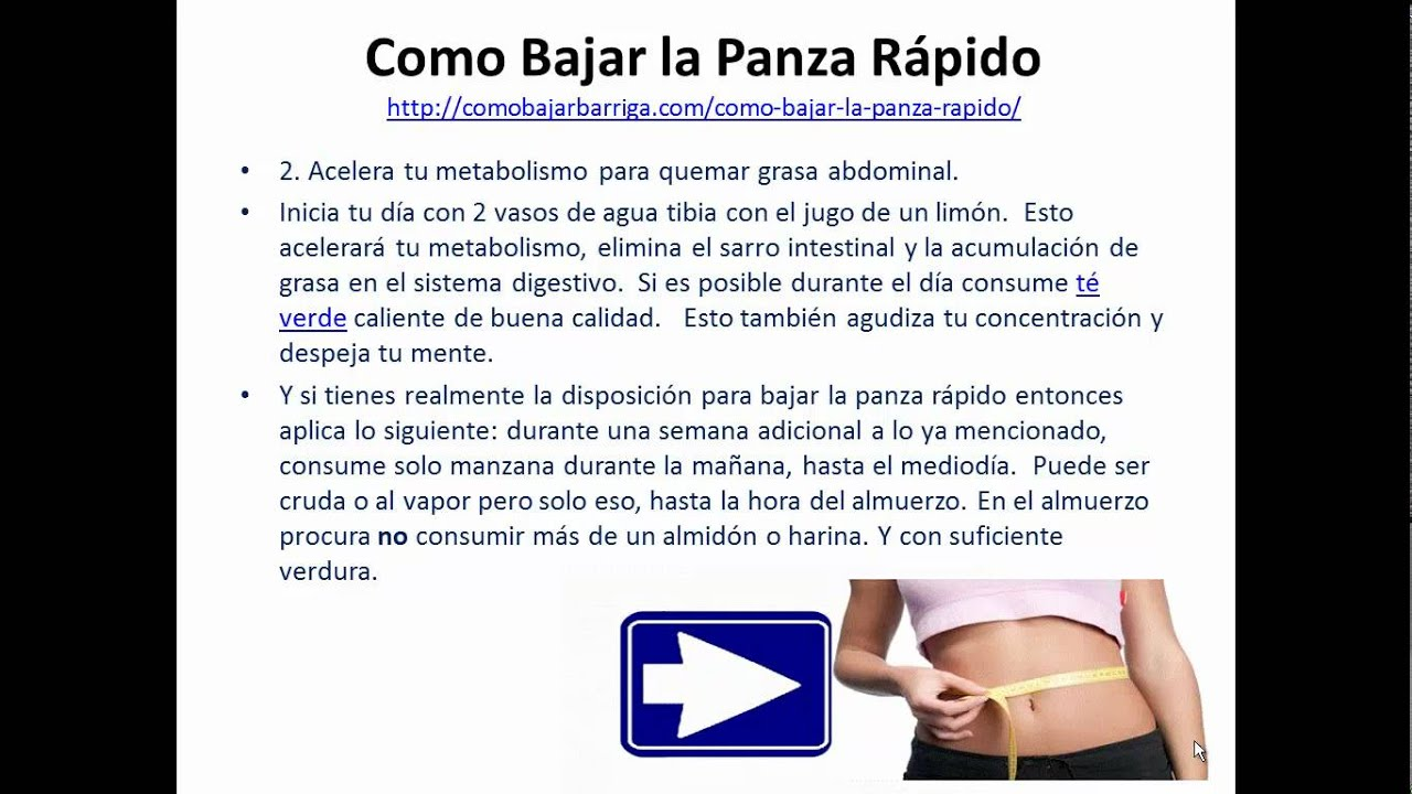 como bajar la panza rapido parte 1.mp4 - YouTube