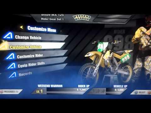 MX vs ATV Alive Suzuki DLC on Australian PSN account