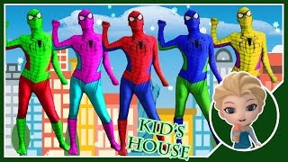 Colors Spiderman Finger Family - Spiderman Family Vs Frozen Elsa Finger Family Songs For Kids