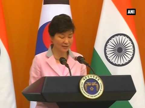 PM Modi and S Korean Prez Park Geun-hye's joint statement and agreement signing ceremony (Part - 2)