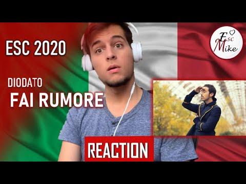 Eurovision 2020 - Italy [REACTION] - Diodato - Fai rumore