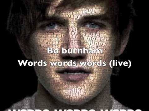 Bo Burnham - Words Words Words (Live)