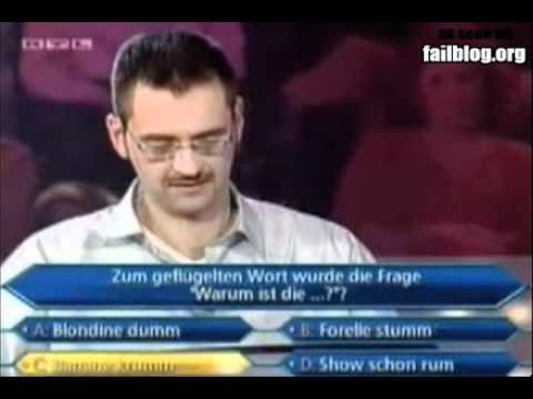 Who Wants To Be A Millionaire Fail video