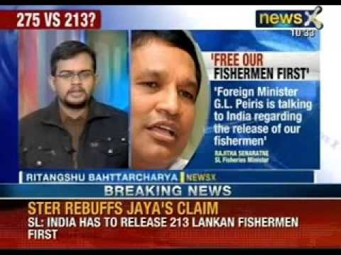 Sri Lanka rebuffs India: Asks India to release it's own fishermen first - NewsX