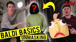 WE FINALLY UNMASKED BALDI'S BASICS AT 3 AM!! (THIS CAN'T BE TRUE)