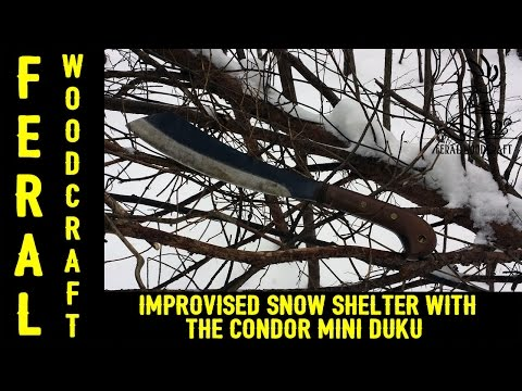 Improvised Snow Shelter with the Condor Mini Duku - The Gauntlet