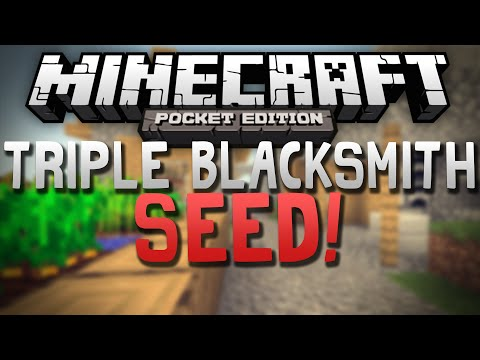 TRIPLE VILLAGE SEED w/ 3 BLACKSMITHS!!! - Awesome Seed - Minecraft Pocket Edition