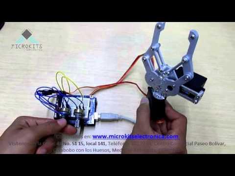 Control Pinza Robótica Con Arduino