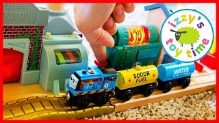 Thomas and Friends Battery Charging Station! Fun Toy Trains for Kids