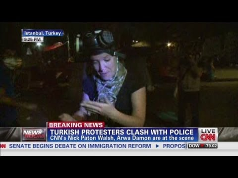 CNN reporters in middle of clashes